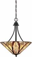 Quoizel TFVY2819VA Victory Tiffany Valiant Bronze Hanging Light