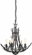 Quoizel THL1718MK Thornhill Contemporary Marcado Black Mini Chandelier Light