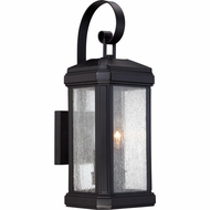 Quoizel TML8407K Trumbull Traditional Mystic Black Finish 18.5  Tall Exterior Wall Sconce