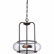 Quoizel TRG1816OZ Trilogy Old Bronze Finish 20  Tall Hanging Pendant Light