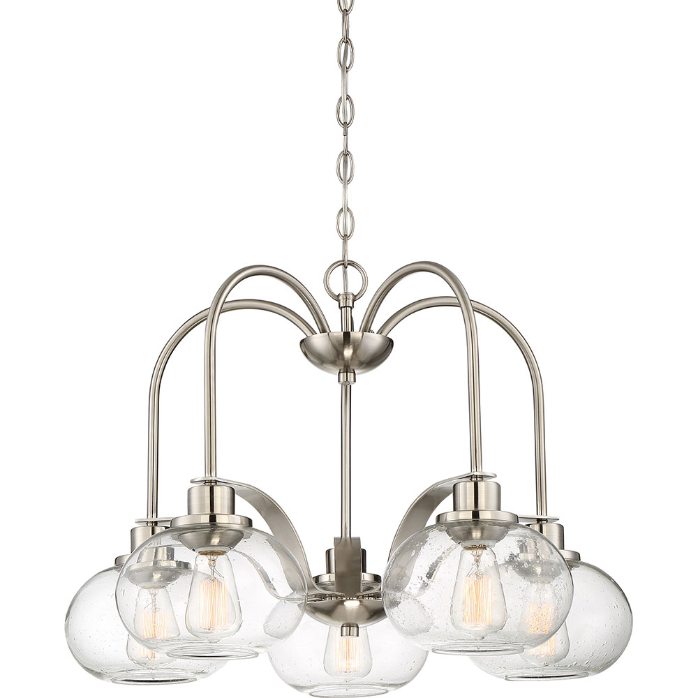 Quoizel TRG5105BN Trilogy Contemporary Brushed Nickel Fluorescent – Quoizel Chandelier