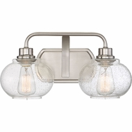 Quoizel TRG8602BN Trilogy Modern Brushed Nickel Fluorescent 2-Light Bath Lighting Fixture