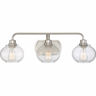 Quoizel TRG8603BN Trilogy Modern Brushed Nickel Fluorescent 3-Light Bathroom Vanity Lighting