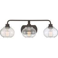 Quoizel TRG8603OZ Trilogy Contemporary Old Bronze Fluorescent 3-Light Bathroom Vanity Light