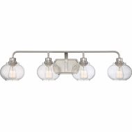 Quoizel TRG8604BN Trilogy Modern Brushed Nickel Fluorescent 4-Light Bathroom Sconce