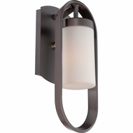Quoizel UPBT8307WT Uptown Belmont Contemporary Western Bronze Finish 15.5  Tall Outdoor Lamp Sconce
