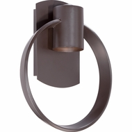 Quoizel UPTR8410WT Uptown Theater Row Modern Western Bronze Finish 10  Wide Halogen Exterior Lighting Wall Sconce