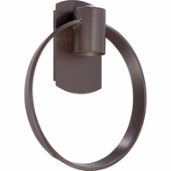Quoizel UPTR8413WT Uptown Theater Row Contemporary Western Bronze Finish 14.5  Tall Halogen Outdoor Wall Lighting Sconce
