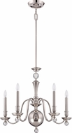 Quoizel UPWB5005IS Uptown Williamsburg Imperial Silver Ceiling Chandelier