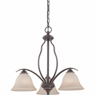 Quoizel VTA5103PN Ventura Palladian Bronze Finish 23  Wide Mini Hanging Chandelier