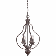Quoizel VTA5204PN Ventura Palladian Bronze Finish 28  Tall Mini Chandelier Light