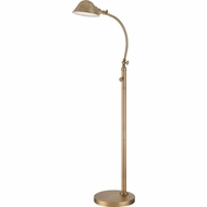 Quoizel VVTH9348AB Vivid Collection Thompson Retro Aged Brass Finish 49  Tall Lighting Floor Lamp