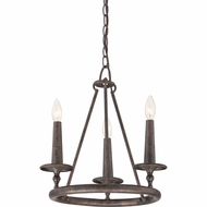 Quoizel VYR5003ML Voyager Malaga Finish 16  Wide Mini Chandelier Lighting