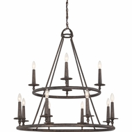 Quoizel VYR5012ML Voyager Malaga Finish 36  Tall Chandelier Light