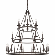 Quoizel VYR5024ML Voyager Malaga Finish 48  Wide Ceiling Chandelier