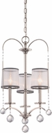 Quoizel WHI5003IS Whitney Imperial Silver Mini Hanging Chandelier