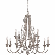 Quoizel WSY5012IF Wesley Italian Fresco Finish 36  Wide Hanging Chandelier