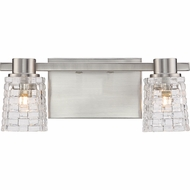 Quoizel WVE8602BNLED Weave Contemporary Brushed Nickel LED 2-Light Bath Wall Sconce