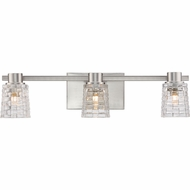 Quoizel WVE8603BNLED Weave Modern Brushed Nickel LED 3-Light Bathroom Light Sconce