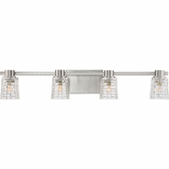 Quoizel WVE8604BNLED Weave Contemporary Brushed Nickel LED 4-Light Bathroom Lighting Sconce