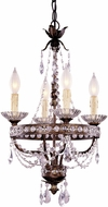 Savoy House 1-1043-4-8 Mini Chandelier New Tortoise Shell w/ Silver Mini Lighting Chandelier