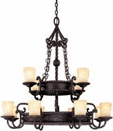 Savoy House 1-2232-12-25 San Gallo Slate 12-Light Ceiling Chandelier