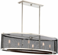 Savoy House 1-3093-6-73 Valcor Contemporary Polished Nickel w/ Graphite & Wood Accent Island Lighting