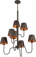 Savoy House 1-6051-7-86 Kimball Modern Cuprum Lighting Chandelier