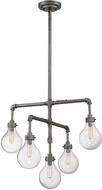 Savoy House 1-6070-5-90 Dansk Contemporary Galvanized Metal Mini Ceiling Chandelier