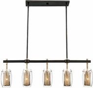 Savoy House 1-9061-5-95 Dunbar Contemporary Warm Brass w/ Bronze Accent Kitchen Island Light