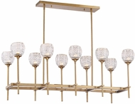 Savoy House 1-9101-10-322 Garland Warm Brass Halogen Island Light Fixture