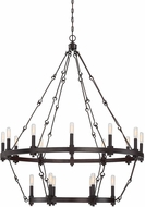 Savoy House 1-932-18-13 Adria Contemporary English Bronze 18-Light Lighting Chandelier