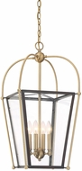 Savoy House 3-9074-4-79 Dunbar Contemporary English Bronze and Warm Brass Foyer Lighting Fixture