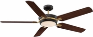 Savoy House 54-5055-5CN-79 Montrose English Bronze & Warm Brass LED Fan Light Fixture