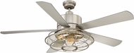 Savoy House 56-578-5SV-SN Connell Contemporary Satin Nickel 56  Ceiling Fan
