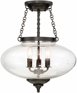 Savoy House 6-9040-3-13 Lowry Contemporary English Bronze Ceiling Lighting Fixture