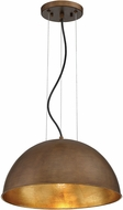 Savoy House 7-5013-1-84 Sommerton Modern Rubbed Bronze w/ Gold Leaf 16 Hanging Light Fixture