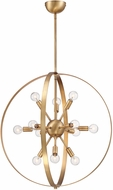 Savoy House 7-6098-12-322 Marly Contemporary Warm Brass Chandelier Light