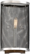 Savoy House 9-3094-1-73 Valcor Modern Polished Nickel w/ Graphite & Wood Accent Lighting Wall Sconce
