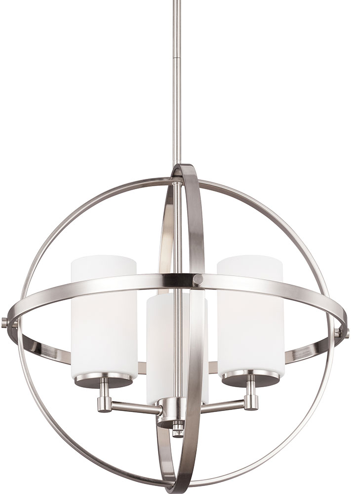Seagull 3124603-962 Alturas Modern Brushed Nickel Chandelier Light. Loading  zoom
