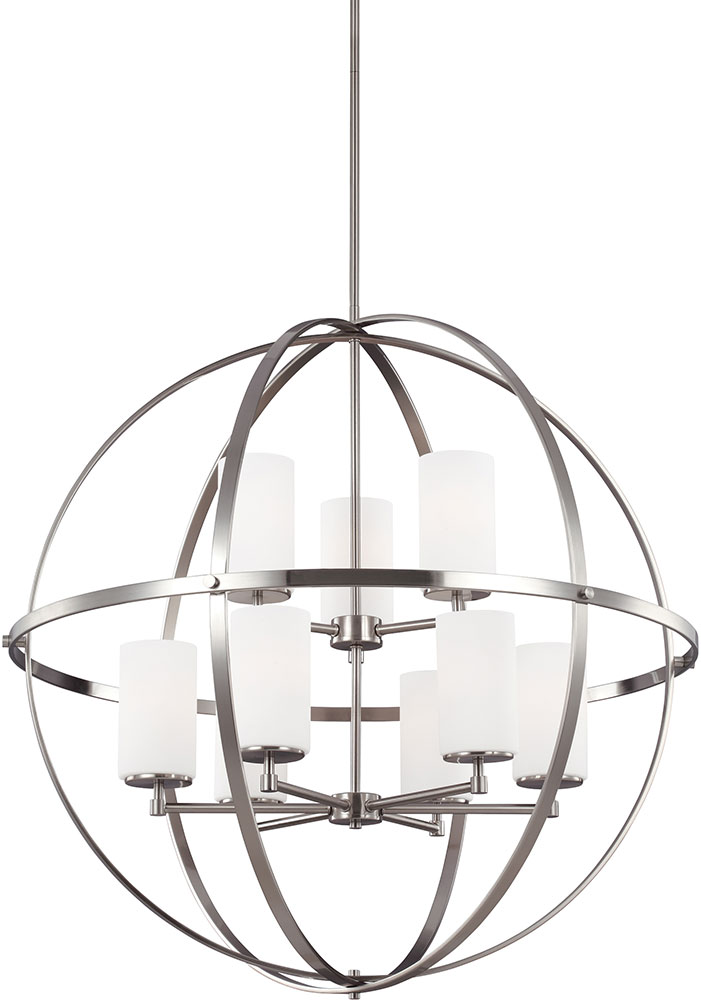 Seagull 3124609-962 Alturas Modern Brushed Nickel Chandelier Light. Loading  zoom