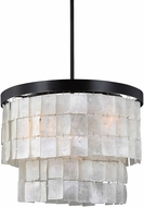 Seagull 3125003BLE-782 Corsicana Contemporary Heirloom Bronze Fluorescent Mini Hanging Pendant Light