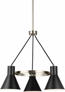 Seagull 3141303EN-962 Towner Contemporary Brushed Nickel LED Mini Chandelier Lighting