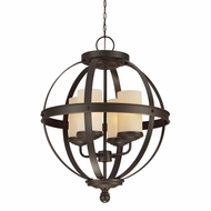 Seagull 3190404BLE-715 Sfera Contemporary Autumn Bronze Fluorescent Hanging Chandelier