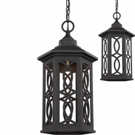 Seagull 6217091S-12 Ormsby Black LED Outdoor Ceiling Pendant Light