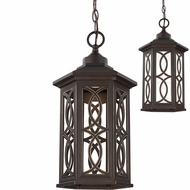 Seagull 6217091S-71 Ormsby Antique Bronze LED Exterior Drop Ceiling Light Fixture