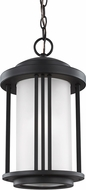 Seagull 6247901EN-12 Crowell Contemporary Black LED Outdoor Pendant Lamp