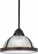 Seagull 65060BLE-715 Pratt Street Prismatic Autumn Bronze Fluorescent 12.75  Hanging Pendant Lighting