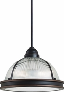 Seagull 65061BLE-715 Pratt Street Prismatic Autumn Bronze Fluorescent 16.25  Ceiling Light Pendant