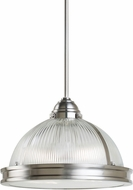Seagull 65061BLE-962 Pratt Street Prismatic Brushed Nickel Fluorescent 16.25  Ceiling Pendant Light